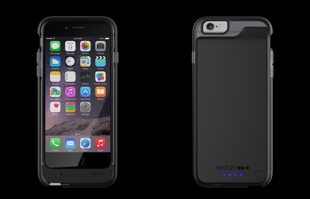 T21-5024 Tech21 Evo Endurance for iPhone 6 - Smokey-Black 1-horz