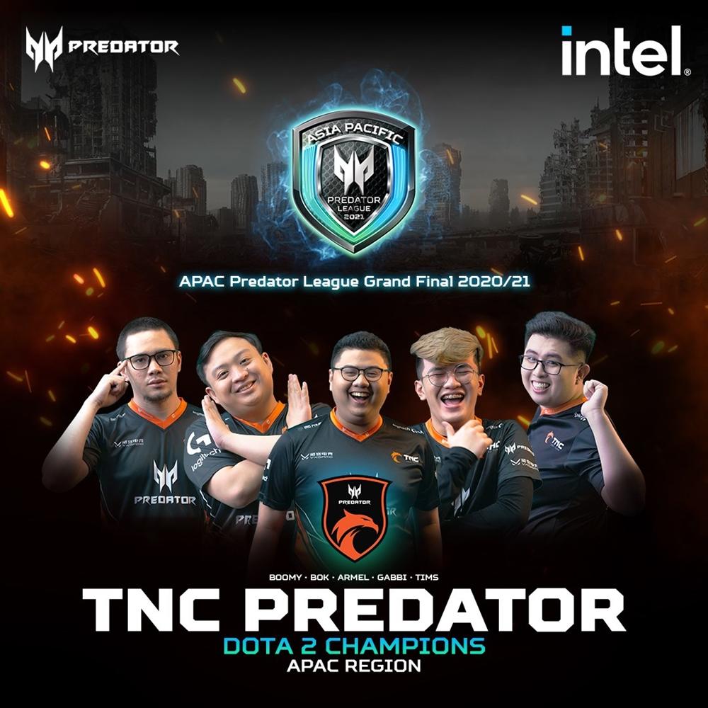 predator league dota 2 winners