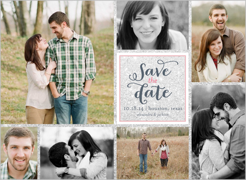 Save Date Shutterfly Multi Photo Collage Design OMG Photos