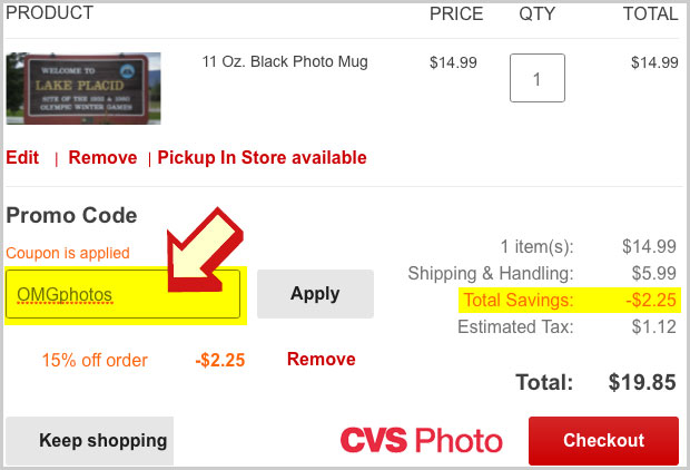 enter cvs photo promo code  OMG Photos