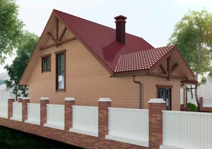 Задний фасад дома