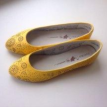 Мои жёлтые свадебные тапочки :)