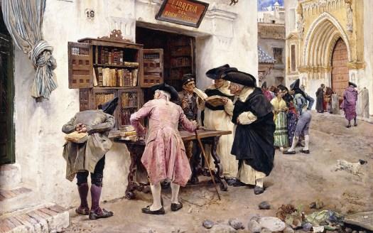 The Bibliophiles, 1879, by Luis Jimenez y Aranda, Private Collection. Photo by Christie's/Bridgeman Images