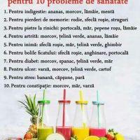 10 retete de sucuri naturale pentru 10 probleme de sanatate