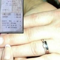 Iubitul ei a cerut-o in casatorie si i-a dat un inel frumos cu diamant. La scurt timp, femeia a gasit chitanta in buzunarul lui si totul s-a schimbat…