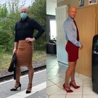 Cine a spus că fustele și tocurile sunt doar pentru femei? Un bărbat din Germania merge la serviciu îmbrăcat ca o doamnă