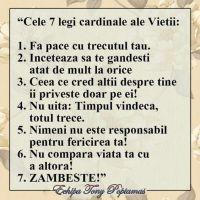 Cele 7 reguli importante ale vietii