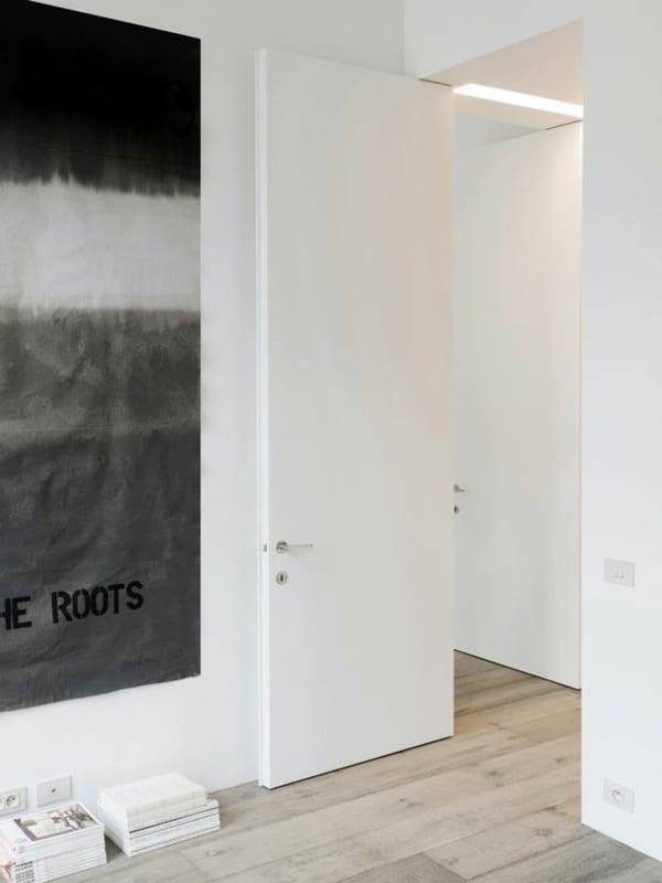 minimalistična bela notranja vrata ideje