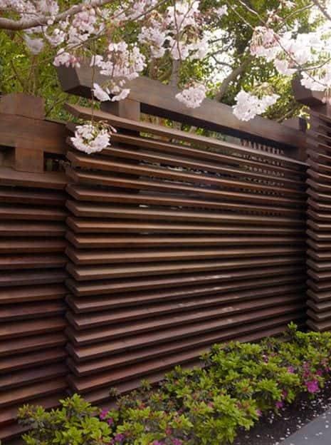 moderna lesena ograja cena