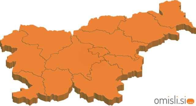 zemljevid slovenije mesta regije ljubljana maribor