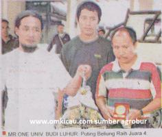 Mr One Univ Budi Luhur - Puting Beliung Raih Juara 4 di Lomba Burung Piala HB X