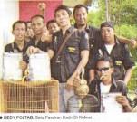 Dedy Poltab dan pasukan di Taman Kuliner