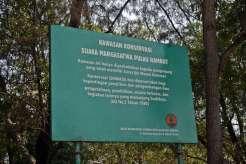 Papan pengenal Pulau Rambut - foto dokumen Silvia Faradila - ACI