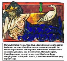 Caladrius adalah burung yang tinggal di kediaman para raja dalam mitologi Yunani