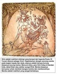 Sirin - makhluk mitologi dari legenda Rusia - sedangkian di Yunani dikenal sebagai Siren