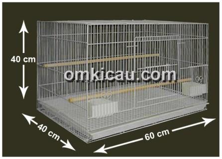 Dua unit kandang breeding lovebird bisa digandeng untuk kandang gantung murai batu.