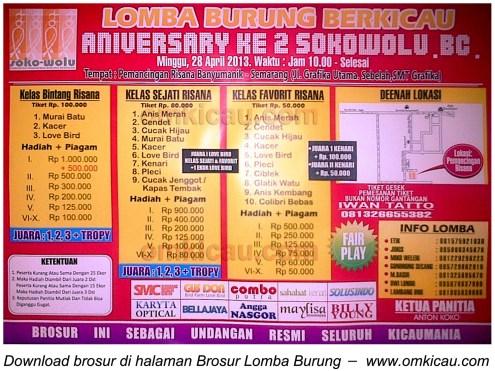 Brosur Lomba 2nd Anniversary Sokowolu BC