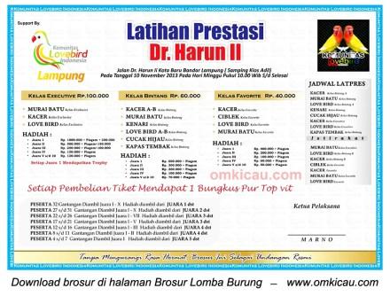 Brosur Latpres Dr Harun II, Bandar Lampung, 10 November 2013