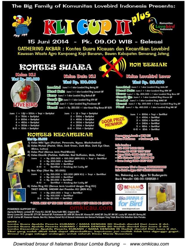 KLI Cup II di Bawen 15 Juni 2014