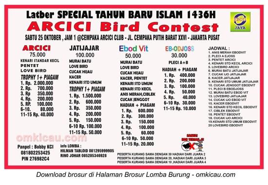 Brosur Latber Spesial Tahun Baru Islam 1436H Arcici, Jakarta Pusat, 25 Oktober 2014