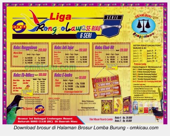 Brosur Liga Ronggolawe Provinsi Riau