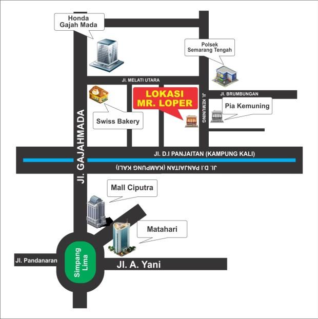 Denah lokasi Mr Loper / Asrama Kemuning Semarang