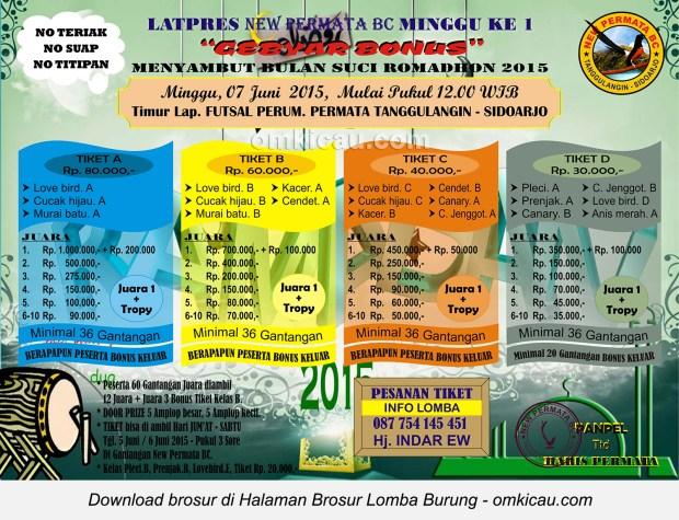 Brosur Latpres New Permata BC Menyambut Ramadhan, Sidoarjo, 7 Juni 2015