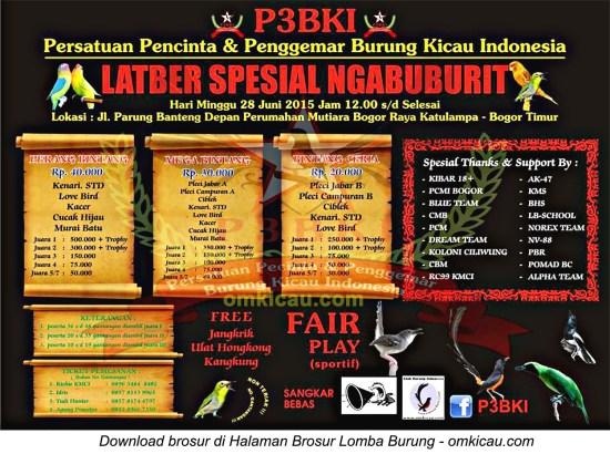 Brosur Latber Spesial Ngabuburit P3BKI, Bogor, 28 Juni 2015