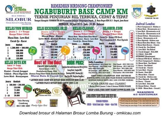 Brosur Lomba Burung Berkicau Ngabuburit Base Camp KM, Depok, 28 Juni 2015