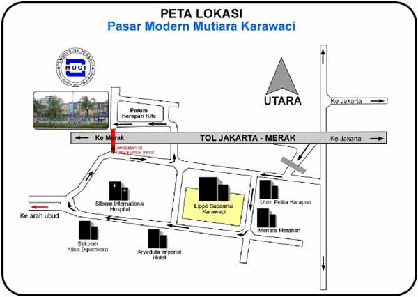 Denah Lokasi Pasar Modern Mutiara Karawaci