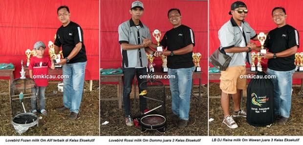 Permata BC Ogan Ilir - juara lovebird eksekutif