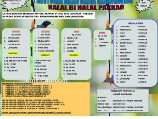 Brosur Latber Halal Bi Halal Pakkar, Banjarnegara, 24 Juli 2016