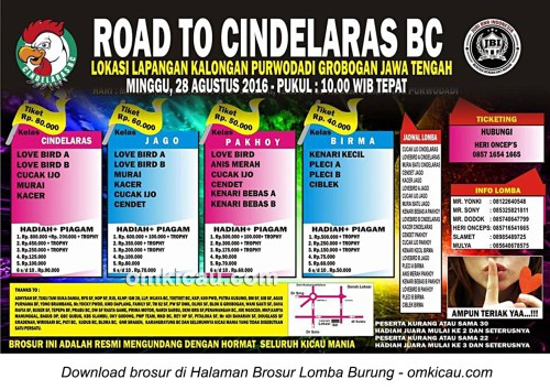 Brosur Latpres Road to Cindelaras BC, Purwodadi, 28 Agustus 2016
