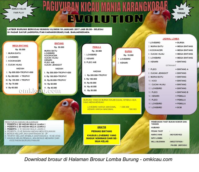 Brosur Latber Minggu Kliwon Pakkar Evolution, Banjarnegara, 15 Januari 2017