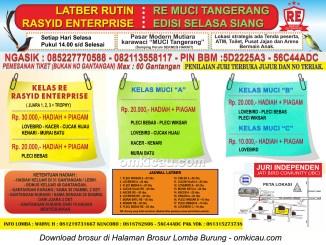 Brosur Latber Rutin RE Muci Tangerang - Edisi Selasa Siang