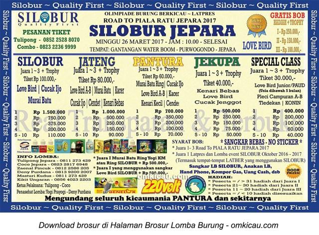 Brosur Latpres Road to Piala Ratu Jepara - Silobur Jepara, 26 Maret 2017