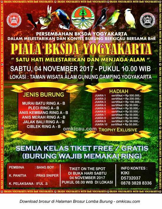 Piala BKSDA Yogyakarta