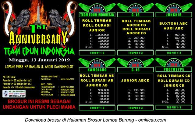1st Anniversary Team Edun Indonesia