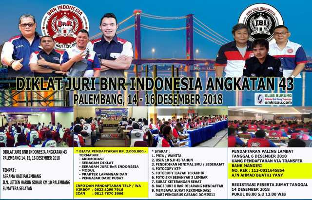 Diklat Juri BnR Indonesia