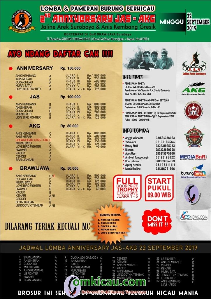 Download brosur di Halaman Brosur Lomba Burung - omkicau.com