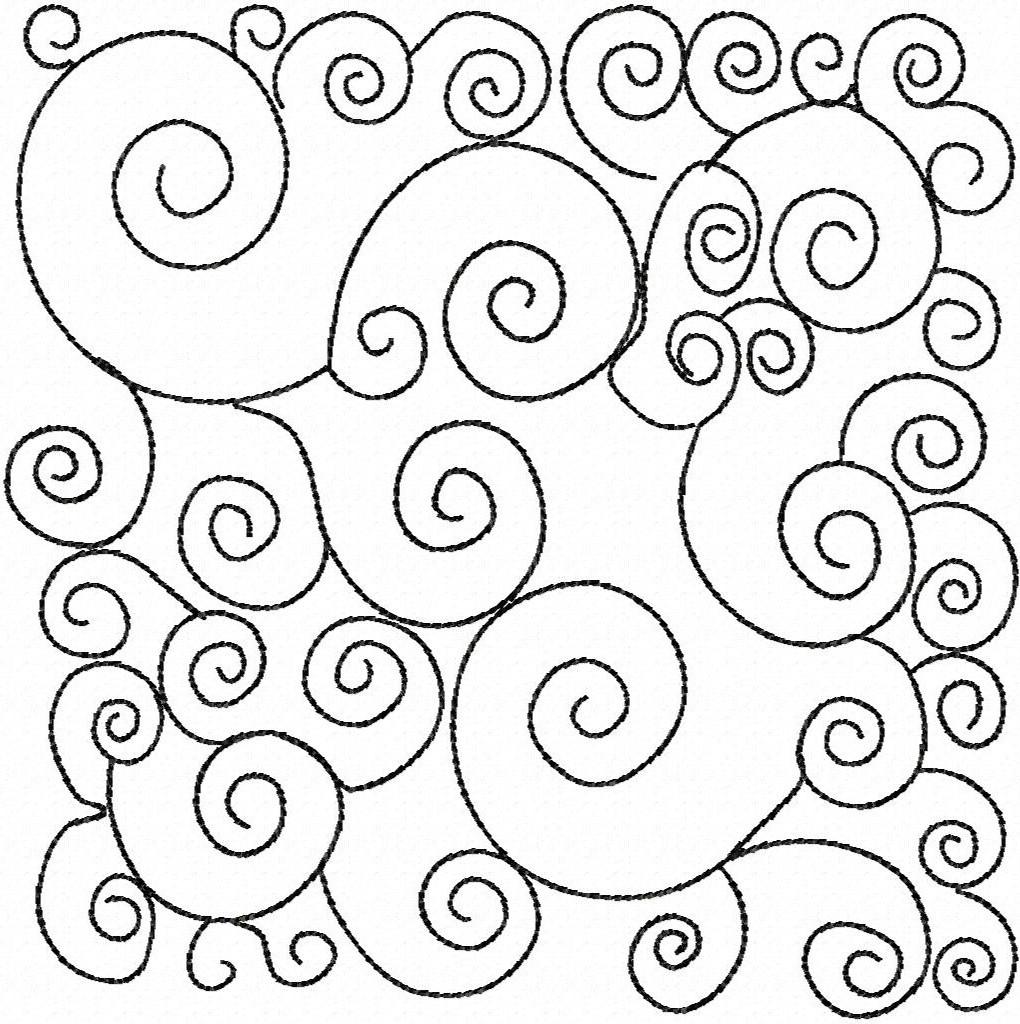 Beautiful yet simple swirly embroidery design.