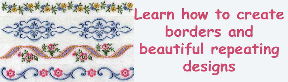 Learn how to create borders and beautiful repeating designs