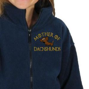 mother of dachshunds embroidery design