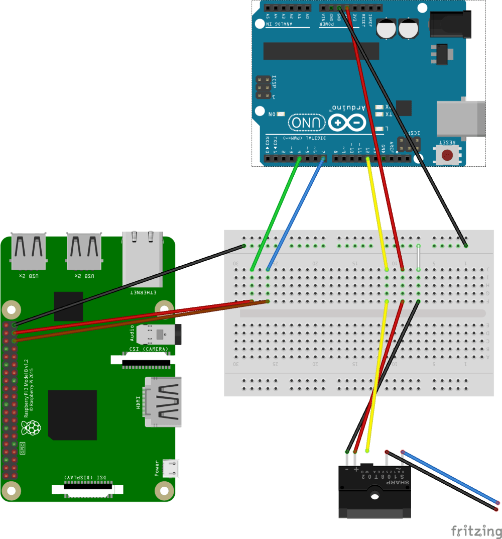 medium resolution of diagram of the wiring with rpi arduino and relay