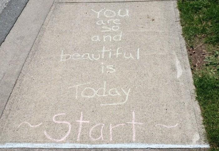 Random Chalk Writing