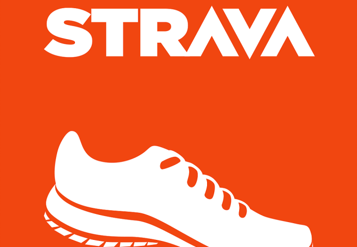 New Run activity on Strava