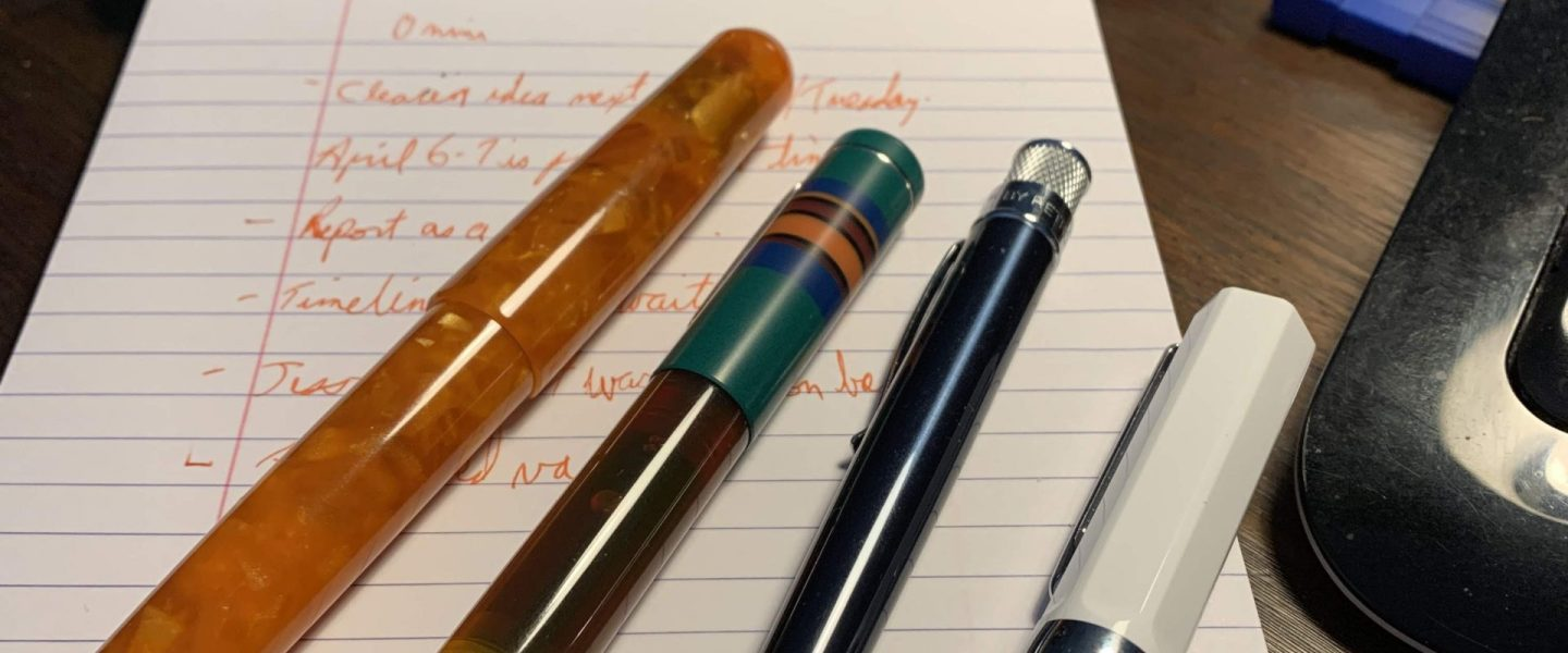 Fountain Pens and Fine Writing – and How to Keep Track of it.