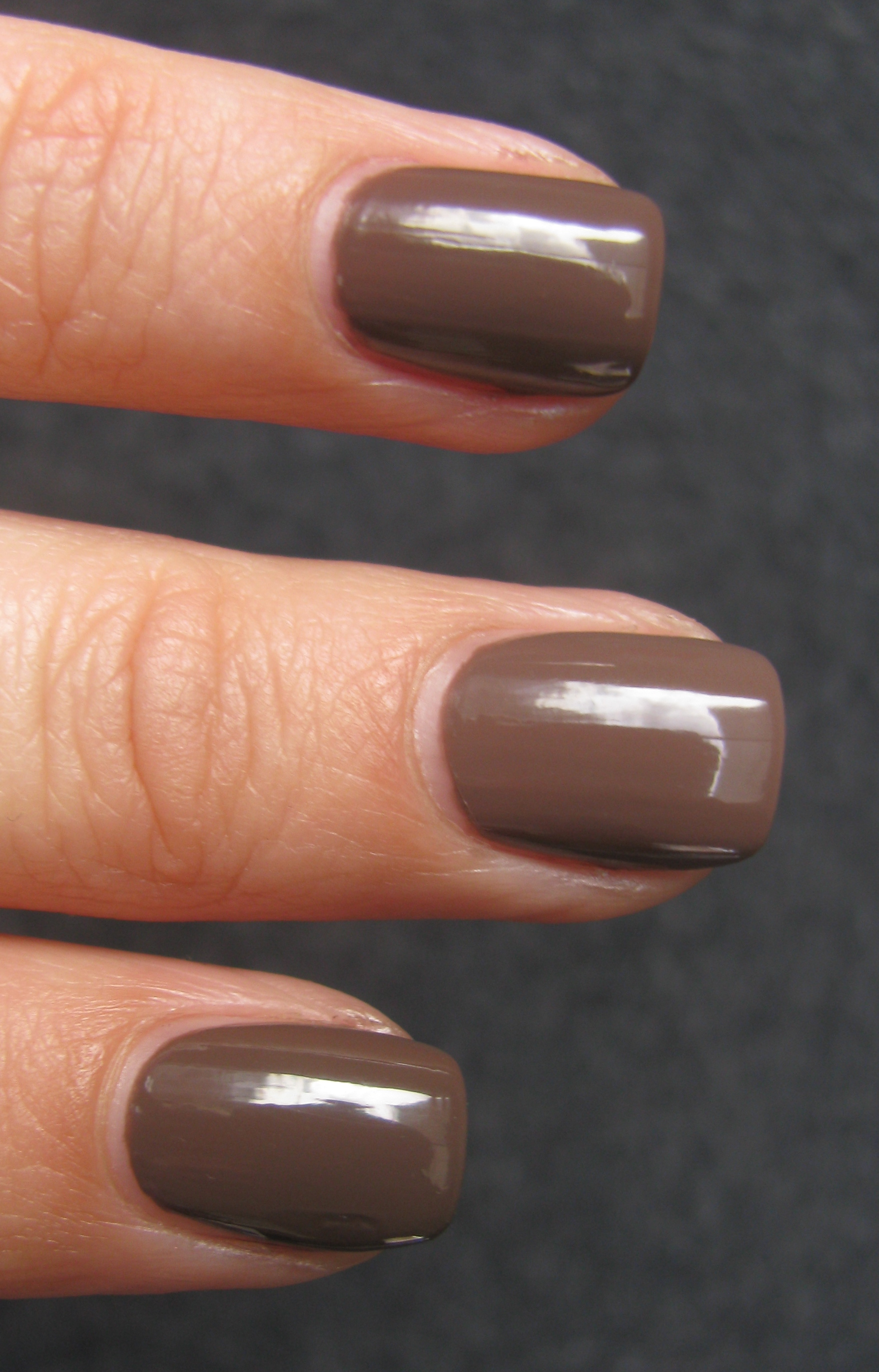 Essie \'Hot Coco\' vs. OPI \'Over the Taupe\' vs. Essie \'Mink Muffs ...