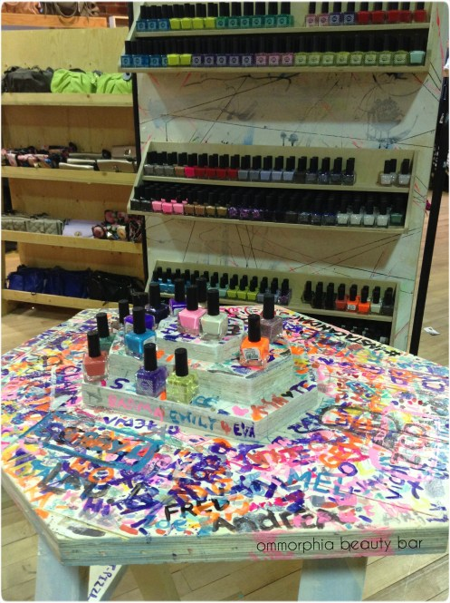 UO Nail polish display & table