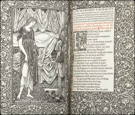 William Morris Love is Enough illustrated
